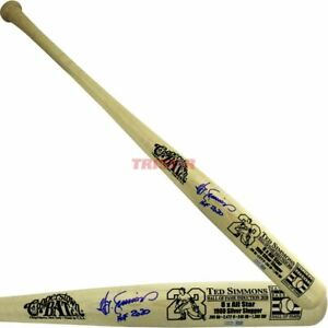 Ted Simmons Autographed Cooperstown Hall of Fame Bat Inscribed HOF 2020 TRISTAR