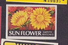 Ancienne étiquette allumettes   BN18892 Fleur Soleil