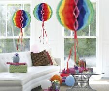 Christmas Party Decoration Honeycomb Ball 50cm Multi Coloured Paper x 1