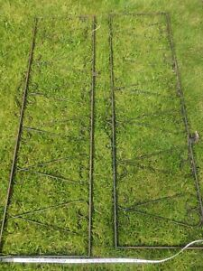 Reclaimed  original Wrought Iron Fence Panels  X2 ( collection options)