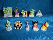 MONSTERS UNIVERSITY Inc Set 10 Mini French Porcelain FEVES Figures DISNEY PIXAR