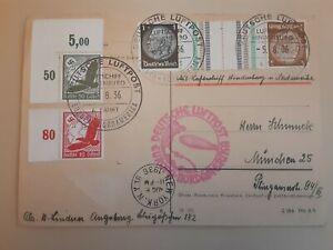 Hindenburg Olympic Flight Postcard