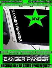 DANGER RANGER Vertical Windshield Vinyl Decal Sticker TRUCK Lifted Mini Mud Duty