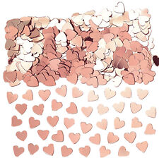 Rose Gold Hearts Table Confetti Wedding Engagement Anniversary Party Decorations