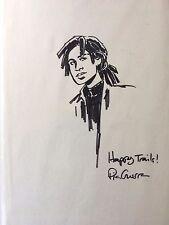 Pia Guerra Agent 355 Original Art Drawing Head Sketch Pen Y the Last Man