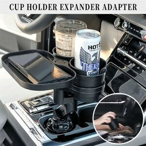 Mintiml 4 in 1 Cup Holder Expander Adapter Car Rotatable Wireless USB Charging