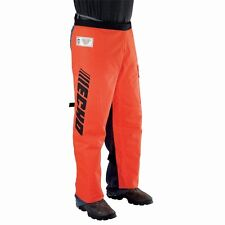 ECHO Chain Saw Chaps Safety Pants 36 in. 12 Layers Polyester Orange Front Pocket