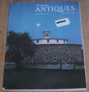 Antiques Magazine October 1981 Hancock Shaker Village Irish Silver Crystal