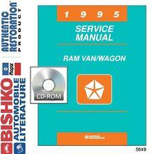 1995 Dodge Ram Van Wagon Shop Service Repair Manual CD Engine Drivetrain Wiring