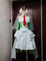 Pokemon Pocket Monster Gardevoir Cosplay Costume white & green dress