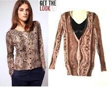 Viscose All Seasons Button Jumpers & Cardigans for Women