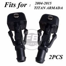 2x Windshield Wiper Water Spray Jet Washer Nozzle for 2004-2015 TITAN ARMADA