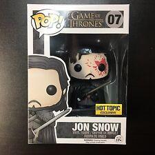 Funko POP Game of Thrones Jon Snow Bloody Hot Topic Exclusive