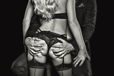 STUNNING SEXY STOCKINGS SUSPENDERS CANVAS PICTURE #216 EROTIC WALL HANGING ART