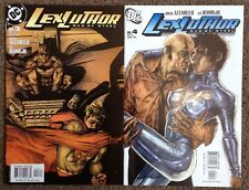 Lex Luthor DC Comic Book Bundle 3 and 4 Man of Steel Lot