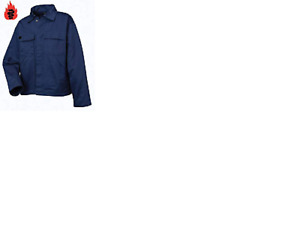 Warrior Work wear 0118PJ Flame Retardant Jacket Navy. Navy work coat Mens Jacket