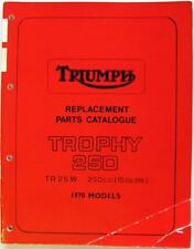 TRIUMPH Trophy 250 TR 25 W Motorcycle Parts List 1970 #99-0906
