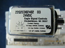 Eagle Signal G.P. Round Base Relay, 24VDC, 2 Pole [Z3S6]