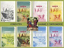 PAUL CUVELIER - CORENTIN - LE SIGNE DU COBRA GAMME D'IMPRIMERIE COUVERTURE -1982