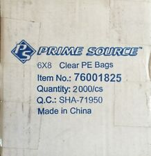 Prime Source 6 x 8 Clear Pe Bags 2,000 count item 76001825