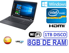 "ORDENADOR PORTATIL ACER 15"" INTEL 8GB /1TB/ WINDOWS 10 + OFFICE + ANTIVIRUS"