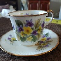 Queen's Fine Bone China -  Made in England - tea cup and saucer Flowers