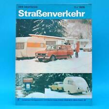 Der Deutsche Straßenverkehr 11/1978 DDR Camptourist CT 6-2 Wartburg Zastava F