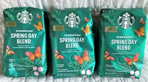 3 10-oz Bag Lot Starbucks Limited Edition Spring Day Blend Ground Coffee 7/26/21