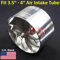 "MEGA Air Intake Fan Turbo Supercharger Turbonator Gas Fuel Saver 3.5"" to 4"""
