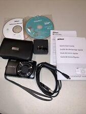Nikon COOLPIX S6300 16.0MP Digital Camera Black Case 32GB Micro SD Card