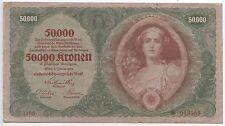 GB102 - Banknote Österreich 50000 Kronen 1922 Pick#80 Österreich-Ungarische Bank