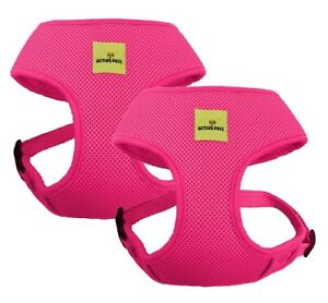 Dog Vest Harness Comfortable Breathable Mesh Reflective Puppy Collar Set of 2