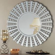 Large Wall Mirror Modern Circular Multi Facet Sunburst Glass Venetian Round 81cm
