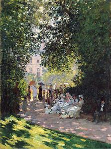 The Parc Monceau by Claude Monet 75cm x 55.7cm Canvas Print