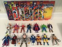 ToyBiz Marvel X-Men Figures Lot With Opened Card Backs