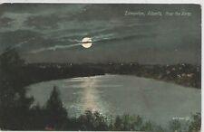 Edmonton Alberta Canada Night Scene Postcard 1908