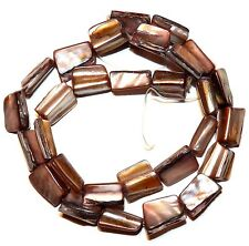 MP310f Copper Brown 15mm Large Tri-Tip Tube Nugget Mother of Pearl Shell Beads