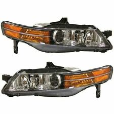 2004 2005 ACURA TL HEAD LAMP LIGHT W/HID TYPE/USA TYPE LEFT AND RIGHT PAIR SET