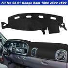 For Dodge Ram 1500 2500 3500 Dash Cover Dashmat Dashboard Mat Car Interior Pad