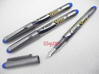 3 x Pilot SVP-20MS Vpen V-Pen Disposable Medium Nib Fountain Pen, Blue