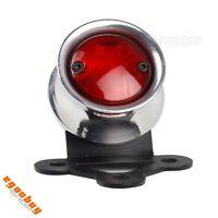 Motorcycle 12V LED Brake Taillight License Plate Lamp For Harley Chopper Bobber