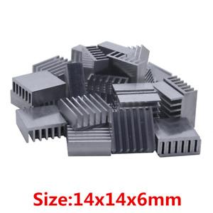 10PCS Extruded Aluminum Heatsink 14x14x6mm Chip CPU GPU VGA RAM LED IC Radiator