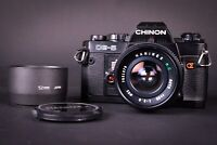 chinon ce5 Vintage 35mm Film Camera (Untested - Stuck Lever) SPAIRS & REPAIRS?