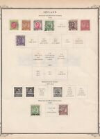 iceland 1920 -25  stamps on album page ref r11376