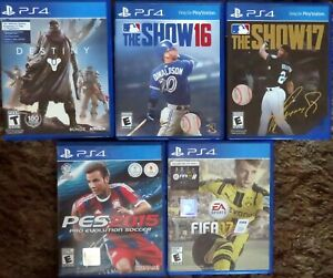PlayStation 4 (PS4) - Collection of 5 Games - See description for titles