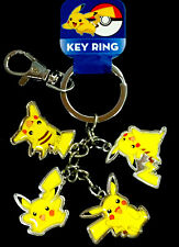 NEW! Pokemon Pikachu Keychain Key Chain Metal Key ring Yellow Lightning Monster