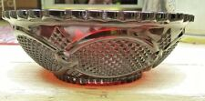 """Vintage Ruby Avon Cape Cod Red Serving Bowl 8 1/2"""" Centennial Edition 1886-1966"""