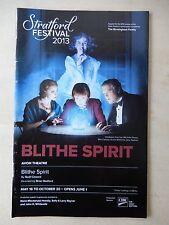May 16th, 2013 - Avon Theatre Playbill - Blithe Spirit - Susie Burnett