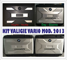 ADESIVI STICKERS DECAL CATARIFRANGENTI VALIGIA BMW VARIO MOD. 2013 R 1200 GS