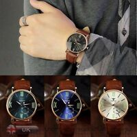 Men Luxury Army Date Sport Leather Wrist Watch Noctilucent Analog Quartz Watches